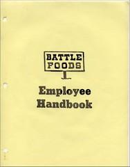 Battle Foods Employee Handbook Cover