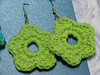 crochet flower earrings created by patti haskins
