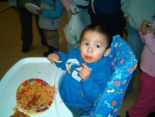 Lamar loves Spagetti