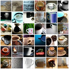 Coffee Cup Mosaic - My Favorites 45 by javame