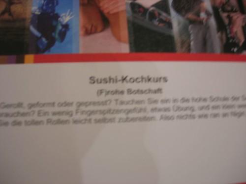 Sushi-Karte