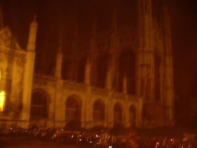 El King's College de noche