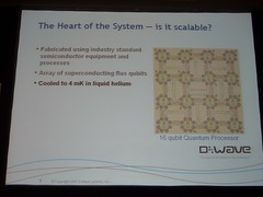 D-Wave presentation: the heart of the system