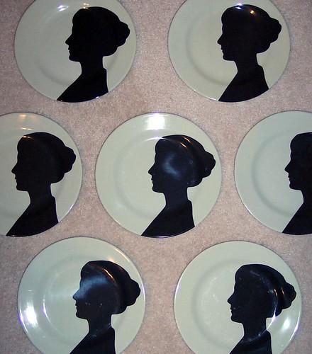 thomaspaul gothic silhouette melamine plates