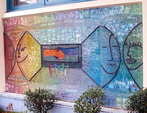Fabulous Mosaic Artist – Ellen Blakeley – Tempered Glass Mosaic Mural – San  CH14