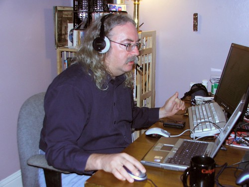 Me, on the computer