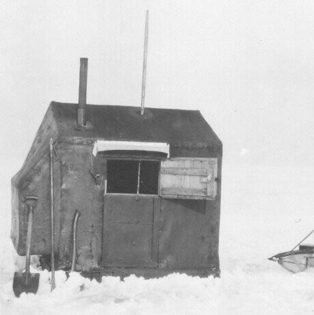 Saginaw Bay Ice Shanty c.1925