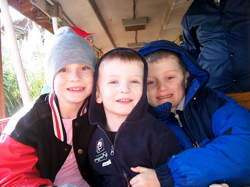 Skyanne, Brian and Max onthe train