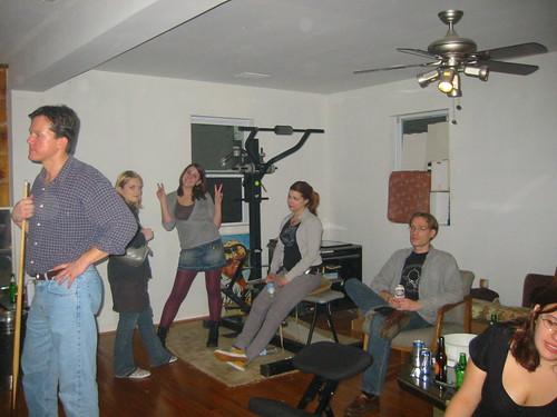 20070113 - Clint's 33rd Birthday party - 109-0955_John, Angel, Lauren, Meagan, Mark, Melanie