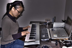 Geeky Valentine's Day present: USB MIDI piano keyboard