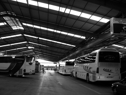 bus station, athens