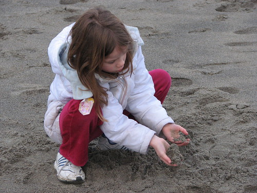 Elizabeth on Neskowin Beach