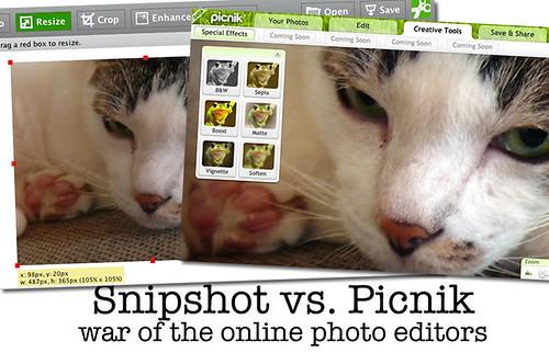 Snipshot vs. Picnik: War of the Online Photo Editors