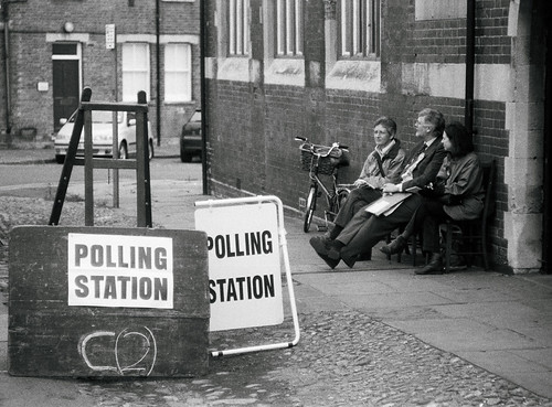 Election day, Castle Hill, Cambridge by Danny..