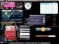 current desktop with tiger widgets