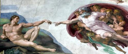 Michel-Ange, la création de l'homme