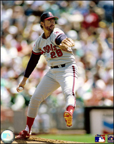 Bert Blyleven pitching for the Angels last pitched in a major league game in 1992 and hopes to be voted into the Baseball Hall of Fame next January