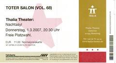 Eintrittskarte Toter Salon, 03.01.2007