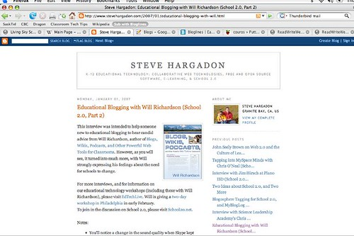 Blogging subscribe