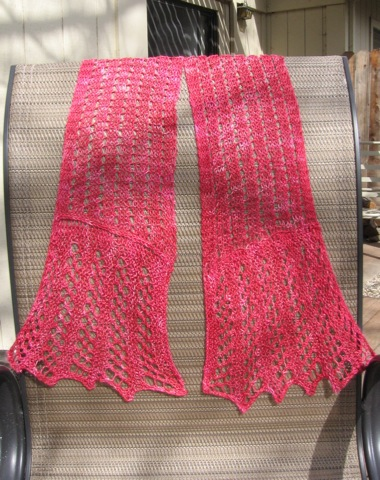 VLT Scarf in Berry Sea Silk