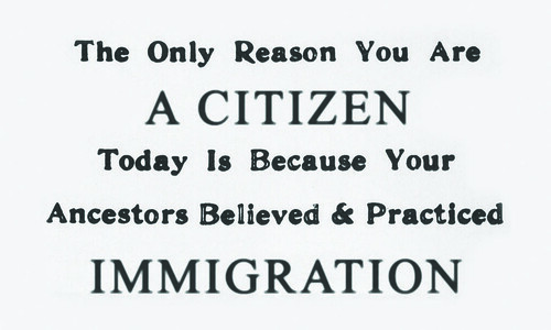 Card : The Only reason you are a citizen today...