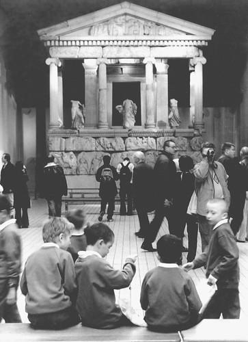 School children bored at The British Museum