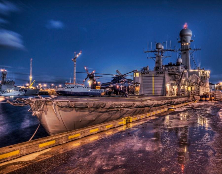 Icelandic Battleship in Falling Light