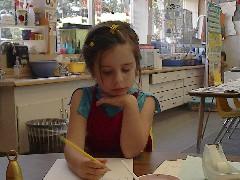 Ruthie in Kindergarten