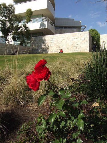 Getty Center, red and red
