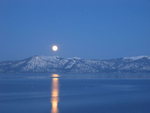 Moonrise over Lake Tahoe