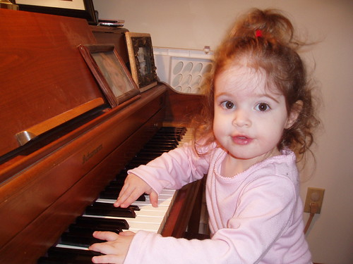 Anna playing the piano
