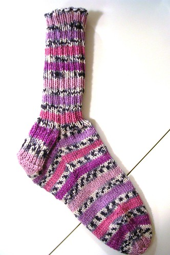 purple sock