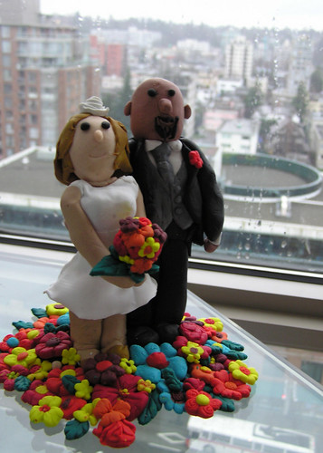 wedding cake topper, by me by steena.