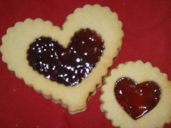 heart jelly cookies