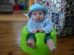 Luke in the happy seat!