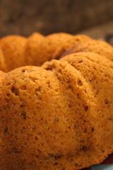 Bran Bundt Cake wtih Berry Streusel