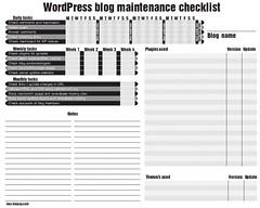 Blog tasks checklist