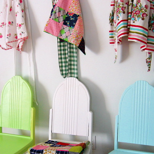 Vintage Aprons & Vintage Chairs (by Picnic by Ellie)
