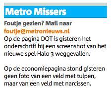 Metro Missers, 22 maart 2007