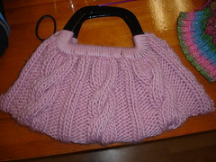 Cabled Purse Demo