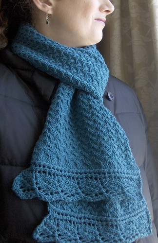 Shifting Sands Scarf finished