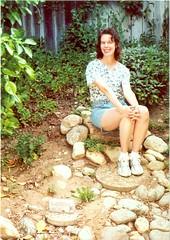 Sandy in the garden