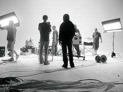 Working on set