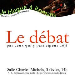 Le débat : Je blogue à Romans