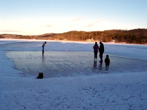 Skating at Cossayuna Lake, NY