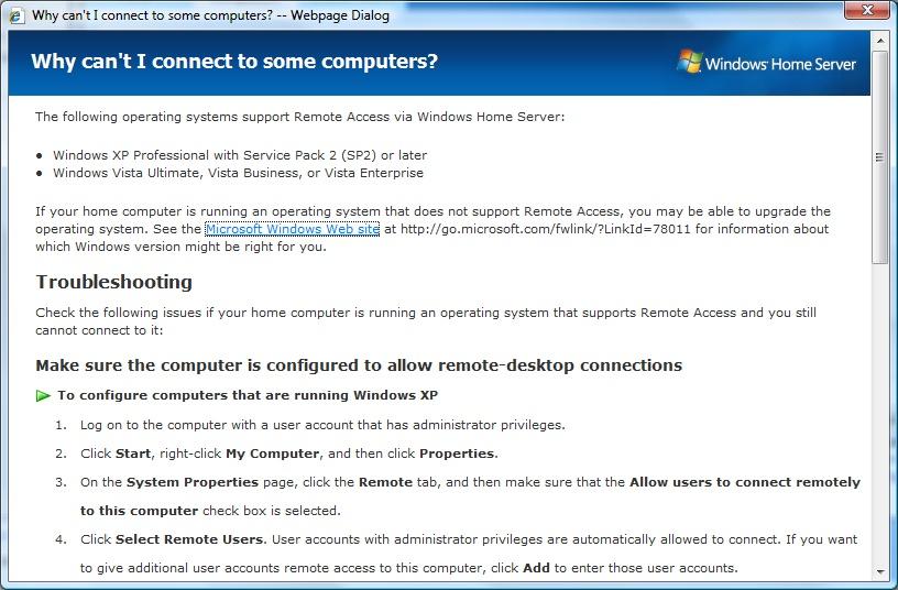 Windows Home Server screenshot 4