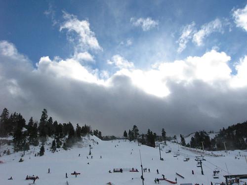 Silver Lining over Bear Mountain Ski Area