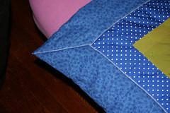 Mitered Corner Closeup of Quilt