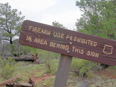 Firearms Prohibited Trail Sign