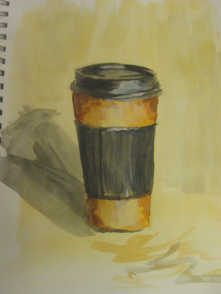 Coffee Cup watercolor